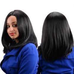 Kanekalon Long Middle Parting Straight High Temperature Fiber Wig