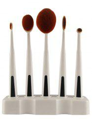 5 Pcs Toothbrush Shape Makeup Brushes Set with Holder