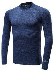 Roll Neck Quick Dry Raglan Sleeve Fitness T-Shirt