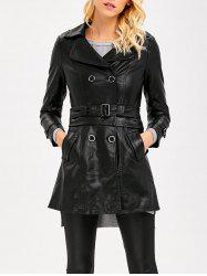 Convertible Faux Leather Jacket -