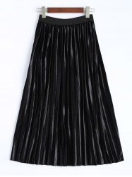 Mid Calf Pleated Skirt