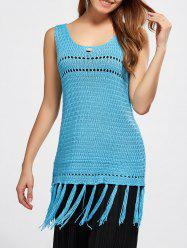 Tassel Hollow Out Sleeveless Jumper Knitwear