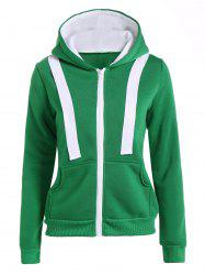 Hooded Contrast Zip Up Jacket -