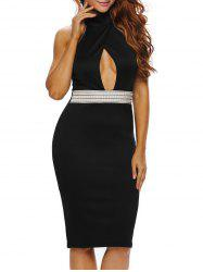 Halter Cutout Bodycon Cocktail Dress