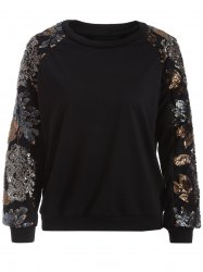 Crew Neck Sequined Sweatshirt