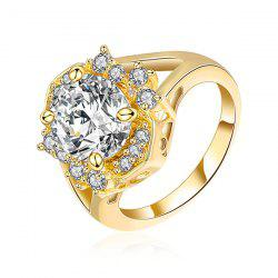 Rhinestone Oval Ring -