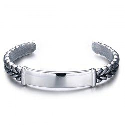 Vintage Alloy Braid Cuff Bracelet