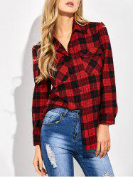 Casual Tartan Check Oversized Shirt