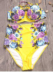 High Waist Floral Print Bikini Set