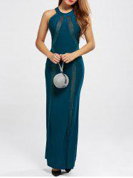 Racerback Evening Formal High Neck Maxi Prom Dress