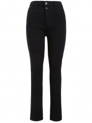 Plus Size Flocking Stretchy Jeans -