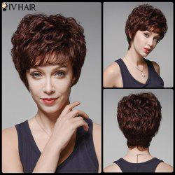 Siv Hair Fluffy Curly Capless Side Bang Human Hair Wig -