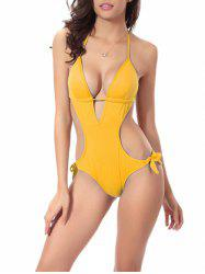 Halter Padded Monokini One-Piece Swimsuit