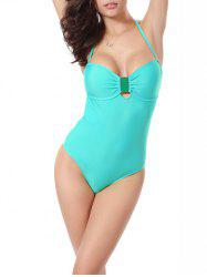 Bandeau High Cut Backless One Piece Swimwear
