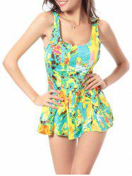 Flounce Skirted One-Piece Swimwear