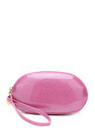 Zip Around Patent Leather Wristlet - PINK