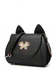 Metal Butterfly Cat Ear Crossbody Bag