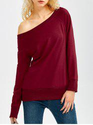 One Shoulder Long Sleeve Sweatshirt