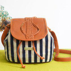 Striped Insert Braid Bucket Bag