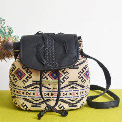 Ethnic Pattern Braid Bucket Bag