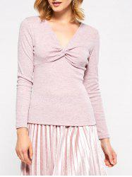 Twist Front Long Sleeve T-Shirt -