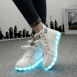 Light Up Clignotant Sneakers - Blanc