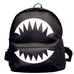 PU Leather Shark Teeth Backpack