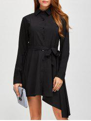 Asymmetric Fitting Long Sleeve Dress