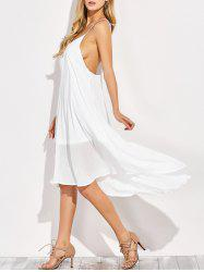 Backless High Low Chiffon Slip Beach Dress