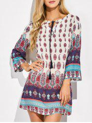 Boho Print Tunic Casual Shift Dress
