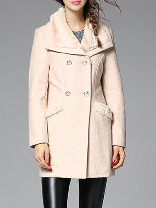 Shop Faux Fur Insert Wool Blend Coat