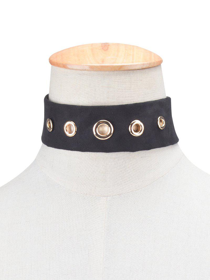 Shops Rivet Suede Choker Necklace