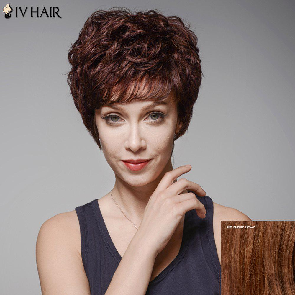 Outfit Siv Hair Fluffy Curly Capless Side Bang Human Hair Wig