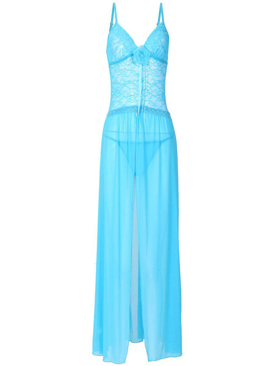 Outfits Lace See Through Maxi Babydoll Dress