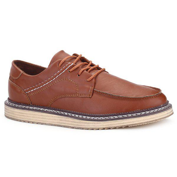 Tie Up Couture Faux Casual Chaussures en cuir