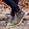 Metal Colour Block Tie Up Boots - GRAY 43