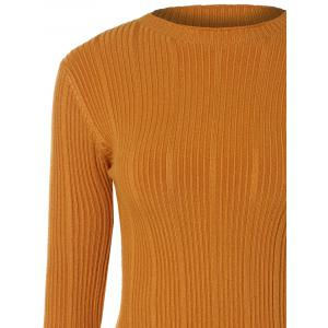 Long Sleeve Drop Shoulder Ribbed Knitwear -