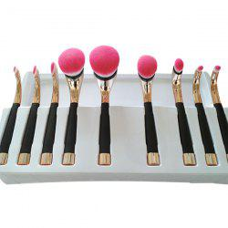 9 Pcs Golf Clubs Shape Artist Makeup Brushes Set