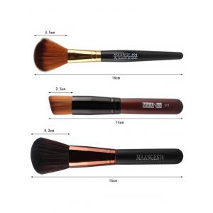 7 Pcs Nylon Face Makeup Brushes Set - BLACK