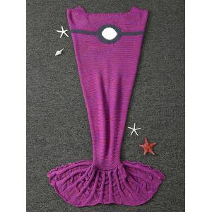Winter Thicken Knitted Wrap Sofa Mermaid Blanket - VIOLET ROSE