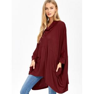 Batwing Sleeve Double Pockets Blouse -