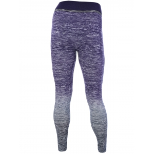 Ombre Stretchy Running Leggings - PURPLE ONE SIZE