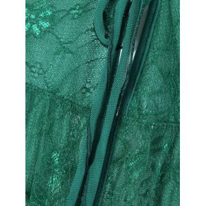 Lace Sheer Night-Robe and T- Back -