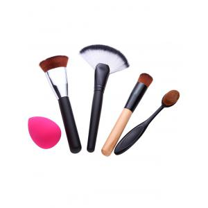 4 Pcs Facial Makeup Brushes Set and Makeup Sponge