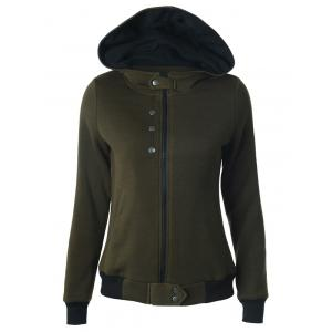 Hooded Zipper Two Tone Hoodie