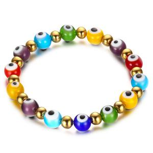 Stylish Color Beading Eye Bracelet