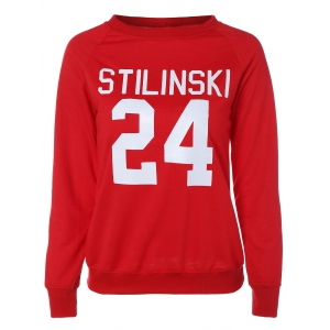 Letter Graphic Long Sleeve Sweatshirt