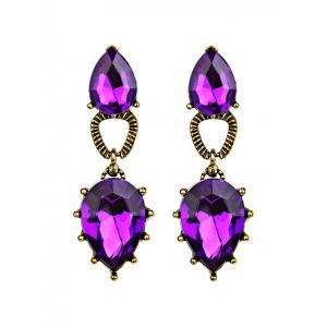 Faux Gem Water Drop Dangle Earrings
