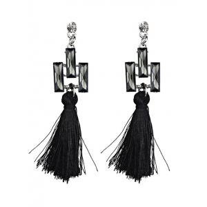 Faux Crystal Tassel Dangle Earrings
