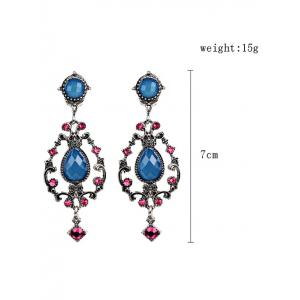 Bohemian Water Drop Rhinestone Earrings -